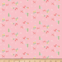 Riley Blake Winter Tales Bunny Pink