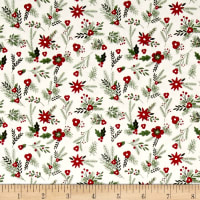 Riley Blake Christmas Delivery Floral Cream