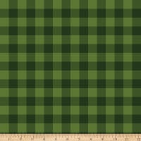 Riley Blake Christmas Delivery Plaid Green