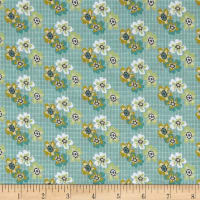 Penny Rose Floral Hues Lawn Bouquet Teal