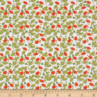 Penny Rose Floral Hues Lawn Leaves Cream