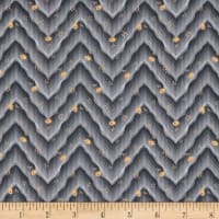 Penny Rose Floral Hues Lawn Chevron Gray