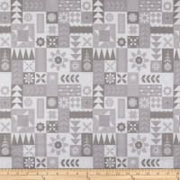 Riley Blake Hello Lovely Geometric Quilt Gray