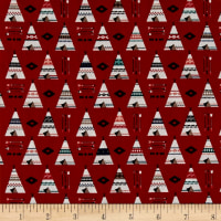 Riley Blake High Adventure 2 Teepee Red