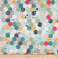 Riley Blake Serendipity Hexagon Aqua