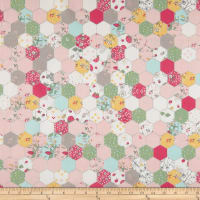 Riley Blake Serendipity Hexagon Pink