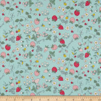 Riley Blake Serendipity Strawberries Aqua