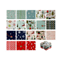 Riley Blake Way Up North Fat Quarter Bundle 18 Pcs. Multi