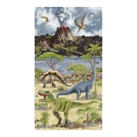 "Timeless Treasures Dino World 24"" Dino Panel Stone"