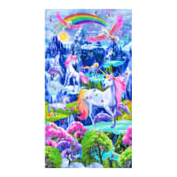 "Timeless Treasures Majestic Unicorn 24"" Unicorn Panel Bright"