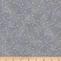 Timeless Treasures Little Star Shooting Stars Grey
