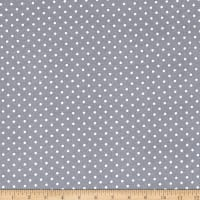 Timeless Treasures Little Star Flannel Polka Dot Grey