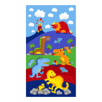 "Timeless Treasures Dino Parade 24"" Dinosaur Panel Blue"