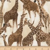 Timeless Treasures On Safari Giraffe Tan