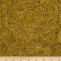 Timeless Treasures Tonga Batik Color Wheel Forest Dotty Spiral Flax