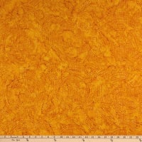 Timeless Treasures Tonga Batik Color Wheel Forest Dotty Spiral Amber