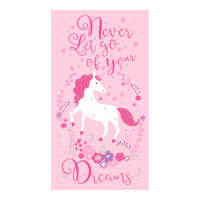 "Timeless Treasures Never Let Go Of Your Dreams 24"" Unicorn Panel Metallic Pink"