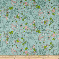 Art Gallery Fabrics Untamed Beauty Twilight Aqua
