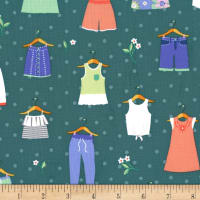 Michael Miller Paper Doll Park Dress Up Spring