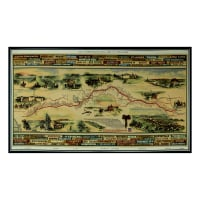 "Pony Express Western 24"" Panel Multi"