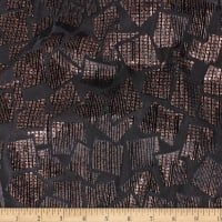 Telio Geometrics Velvet Burnout Knit Squares Black Copper