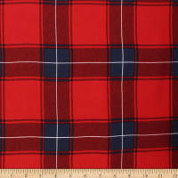 Telio Vangogh Rayon Twill Print Check Red