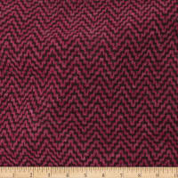 Telio Foxy Poly Mix Herringbone Sweater Knit Stretch Wine