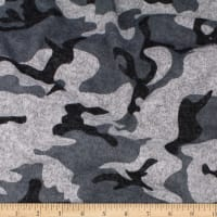 Telio Knit Knack Brushed Sweater Knit Print Camouflage Black