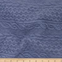 Telio Cable Fable Quilt Knit Denim