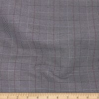 Telio Saville Glen Check Stretch Suiting Grey Wine