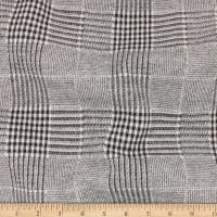 Telio Arlo Cotton Mix Knit Jacquard  Glen Check Black Ivory