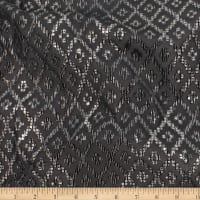 Telio Geometrics Velvet Burnout Stretch Knit Argyle Black Gold