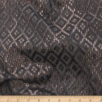 Telio Geometrics Velvet Burnout Knit Argyle Black Copper