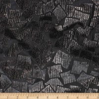Telio Geometrics Velvet Burnout Metallic Knit Squares Black Gold