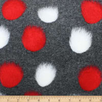 Telio Pom Pom Felted Poly Acrylic Coating Dk Grey Red White