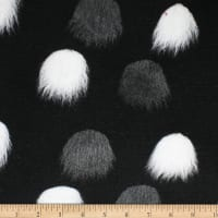 Telio Pom Pom Felted Poly Acrylic Coating Black White