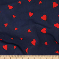 Telio Colorado Poly Faille Hearts Navy/Red