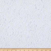 Telio Flora Corded Cotton Nylon Lace Floral White