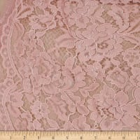 Telio Flora Corded Cotton Nylon Lace Floral Blush