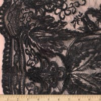 Telio Sheba Corded Lace Floral Black