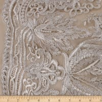 Telio Sheba Corded Lace Floral Oyster