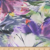 Telio Mikado Twill Digital Floral Purple