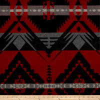 Ralph Lauren Home LFY66952F Blackstone River Stripe Melton Wool Cochineal Red
