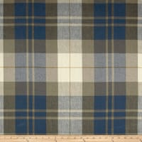 Ralph Lauren Home Summer Cottage Plaid Linen Vintage Blue