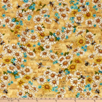 Paintbrush Studios Bee Kind Flowers Gold/Green