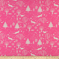 Paintbrush Studio Otter Romp Otters & Trees Pink