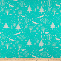 Paintbrush Studio Otter Romp Otters & Trees Turquoise