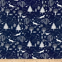 Paintbrush Studio Otter Romp Otters & Trees Navy