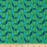 Paintbrush Studio Otter Romp Leaves Blue/Green