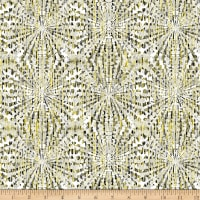 Henry Glass Black, White & Citrus Starburst Texture White/Yellow